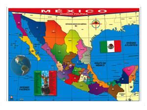 Poster Mapa República Mexicana A Color Venta De Material Didactico